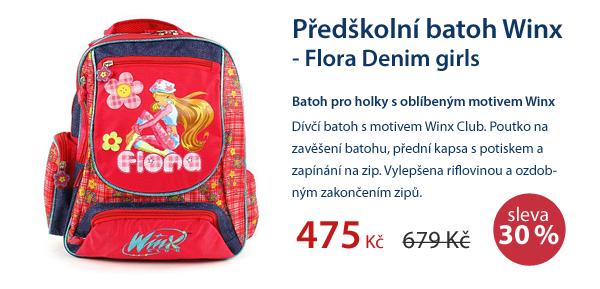 Předškolní batoh Winx - Flora Denim girls