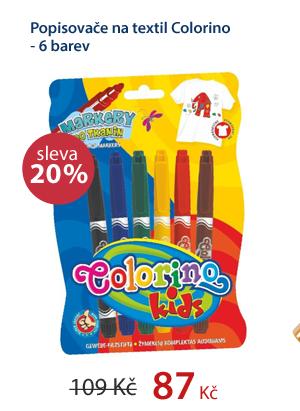 Popisovače na textil Colorino - 6 barev