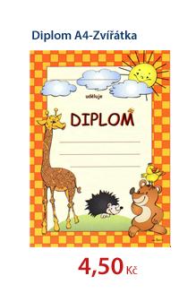 Diplom A4-Zvířátka
