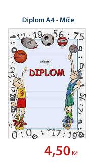 Diplom A4 - Míče