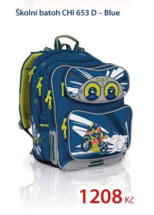 Školní batoh CHI 653 D - Blue