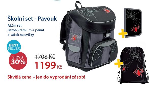 Školní set - Batoh + Penál + Sáček - Pavouk