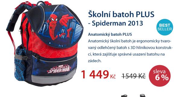 Školní batoh PLUS - Spiderman 2013