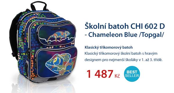 Školní batoh CHI 602 D - Chameleon Blue /Topgal/