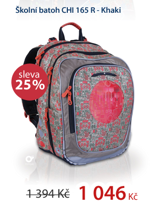 Školní batoh CHI 165 R - Khaki