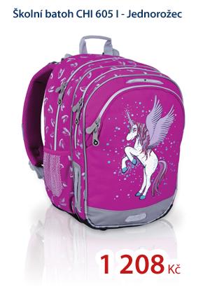 Školní batoh CHI 605 I - Jednorožec