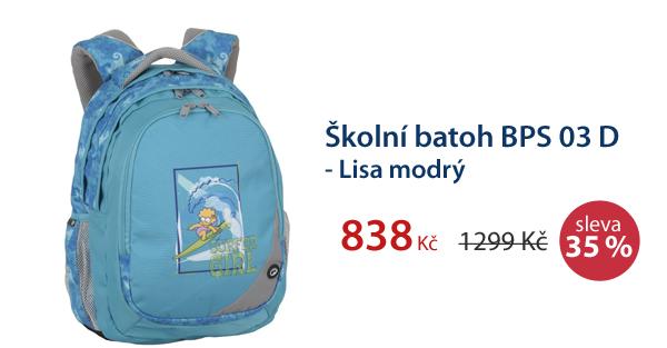 Školní batoh BPS 03 D - Lisa modrý