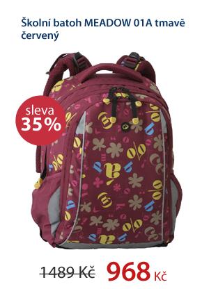 Školní batoh MEADOW 01A tmavě červený