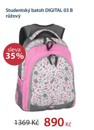 Studentský batoh DIGITAL 03 B růžový