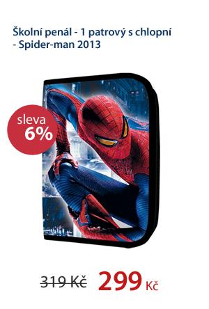 Školní penál - 1 patrový s chlopní - Spider-man 2013