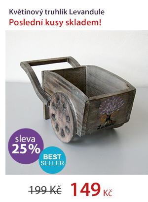 Dřevěný vozík Levandule