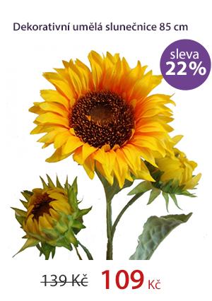 Dekorativní umělá slunečnice 85cm