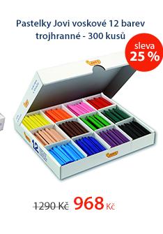 Pastelky Jovi voskové 12 barev trojhranné - 300 kusů