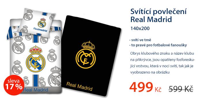 Svítící povlečení Real Madrid 140x200