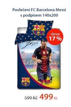 Povlečení FC Barcelona Messi s podpisem 140x200