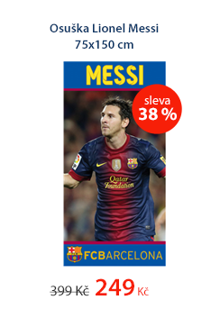 Osuška Lionel Messi 75x150 cm