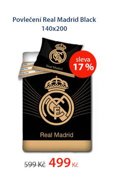 Povlečení Real Madrid Black 140x200