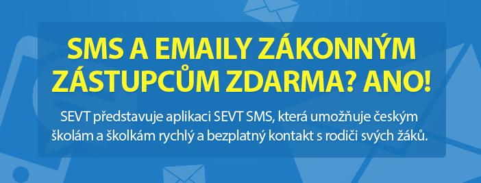 SMSKY a emaily zákonným zástupcům zdarma? ANO!