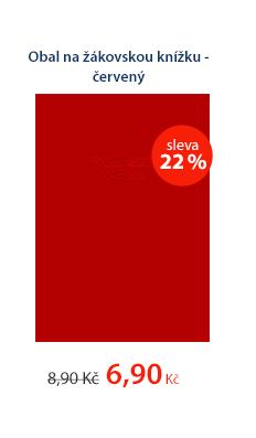 Obal na žákovskou knížku - červený