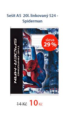Sešit A5 20l. linkovaný 524 - Spiderman