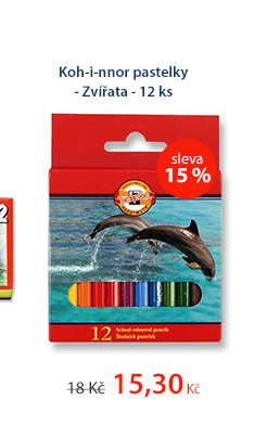 Koh-i-nnor pastelky - Zvířata - 12 ks