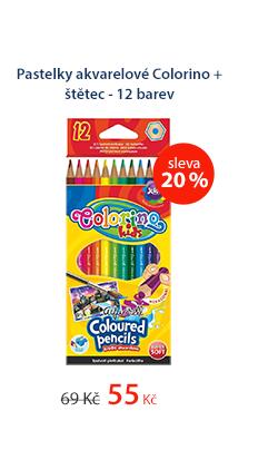 Pastelky akvarelové Colorino + štětec - 12 barev