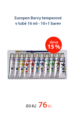 Europen Barvy temperové v tubě 16 ml - 10+1 barev