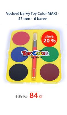 Vodové barvy Toy Color MAXI - 57 mm - 6 barev