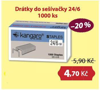 Drátky do sešívačky 24/6 1000ks