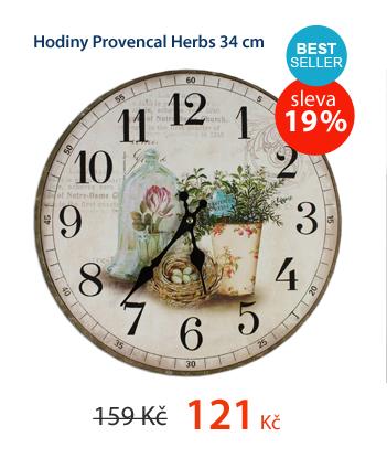 Hodiny Provencal Herbs 34cm