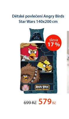 Dětské povlečení Angry Birds Star Wars 140x200cm