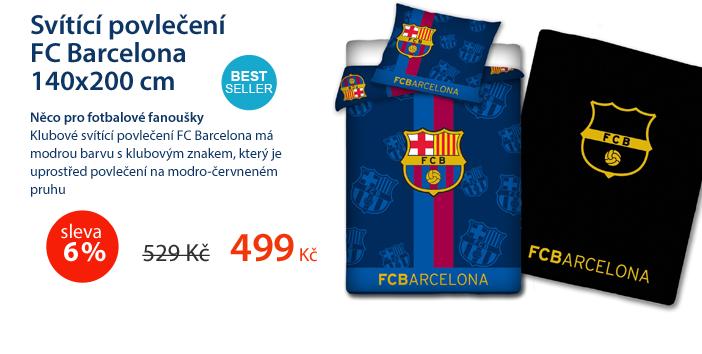 Svítící povlečení FC Barcelona 140x200