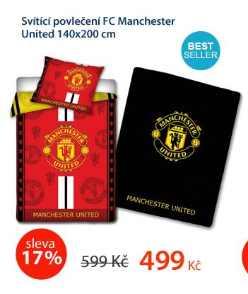 Svítící povlečení FC Manchester United 140x200cm