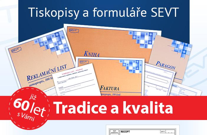 Tiskopisy a formuláře SEVT - tradice a kvalita již 60 let