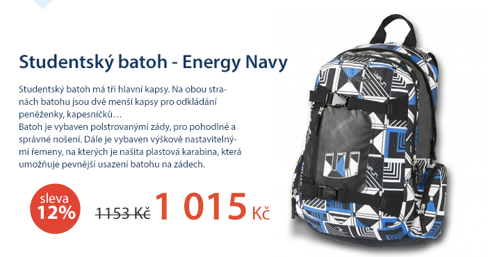 Studentský batoh - Energy Navy