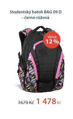 Studentský batoh BAG 09 D - černo-růžová