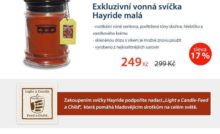 Exkluzivní vonná svíčka Hayride malá