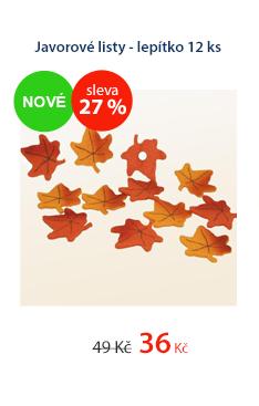 Javorové listy - lepítko 12ks