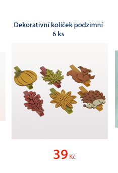 Dekorační kolíček podzimní 6ks