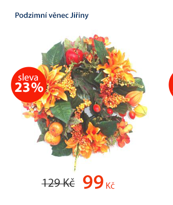 Dekorativní podzimní věnec Jiřiny