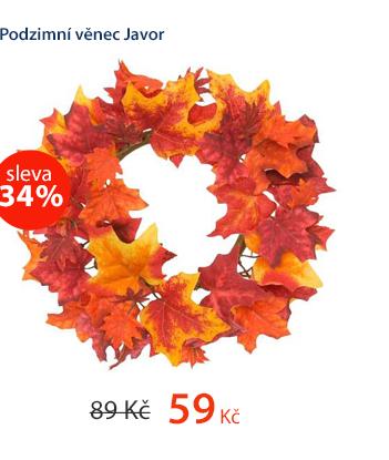 Dekorativní podzimní věnec Javor