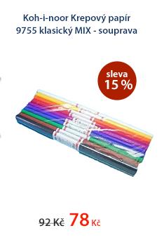 Koh-i-noor Krepový papír 9755 klasický MIX - souprava 10 barev
