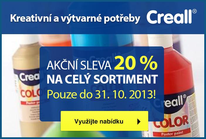 Kreativní a výtvarné potřeby Creall se slevou 20 %