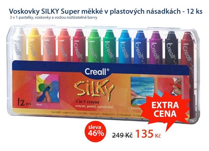 Voskovky SILKY Super měkké v plastových násadkách - 12 ks