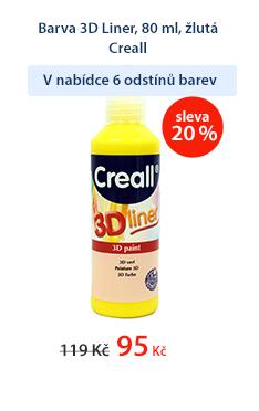 Barva 3D Liner, 80 ml, žlutá Creall