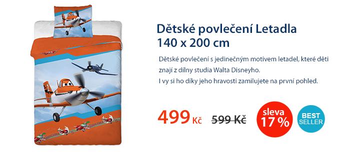 Dětské povlečení Letadla 140 x 200 cm