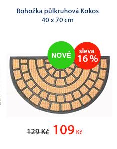 Rohožka půlkruhová Kokos 40 x 70 cm