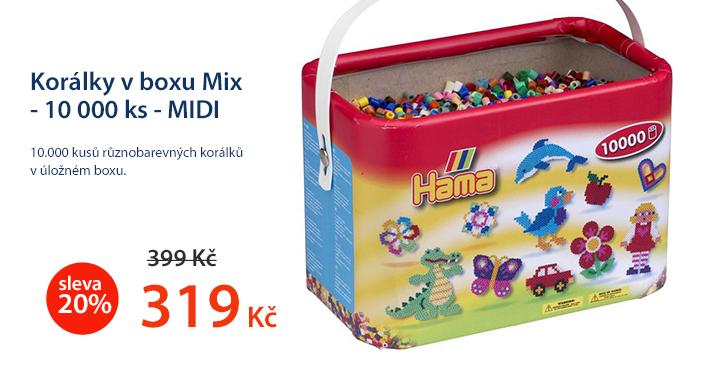 Korálky v boxu Mix - 10 000 ks - MIDI