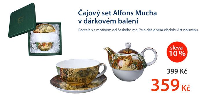 Čajový set Alfons Mucha v dárkovém balení