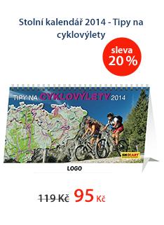 Stolní kalendář 2014 - Tipy na cyklovýlety
